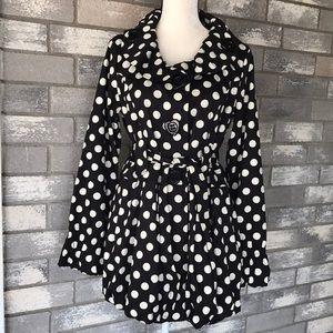 Betsey Johnson polka dots jacket size L